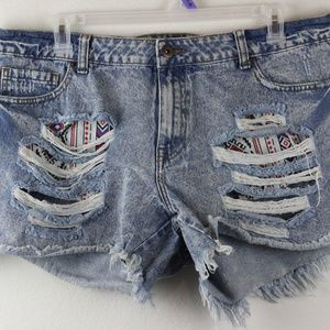 Women's Plus Size Forever 21, Ripped Shorts, 18